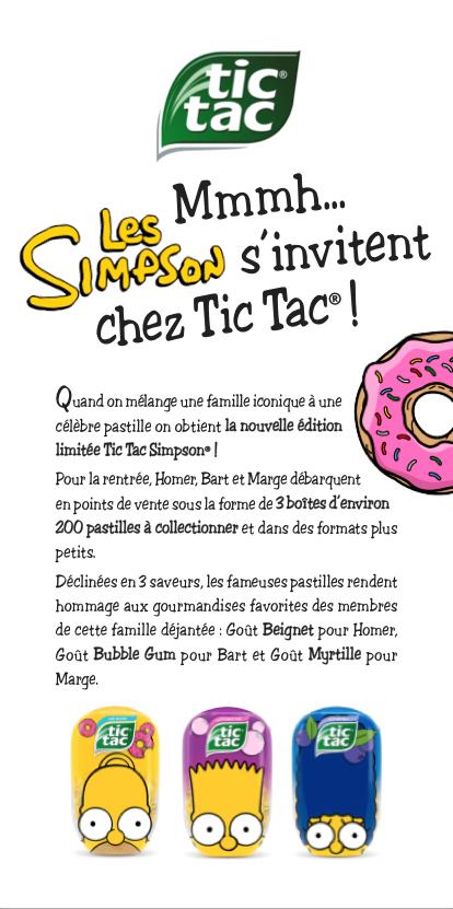 Ferrero / Tic Tac Simpsons