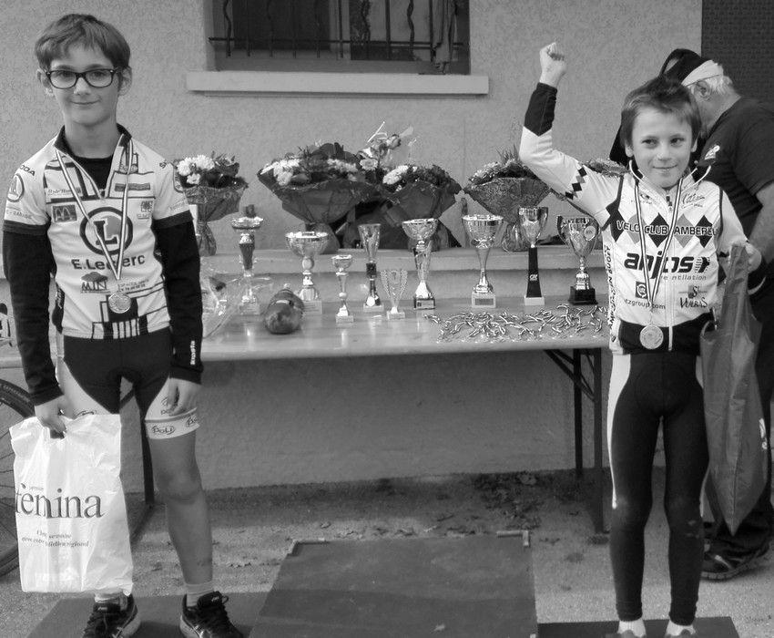cyclo cross de Cormoz : 2 victoires pour l'ECBB