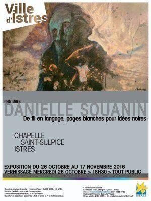 """Danielle Souanin  """"de fil en langage, Pages  blanches pour idées noires""""  #ma ville"""