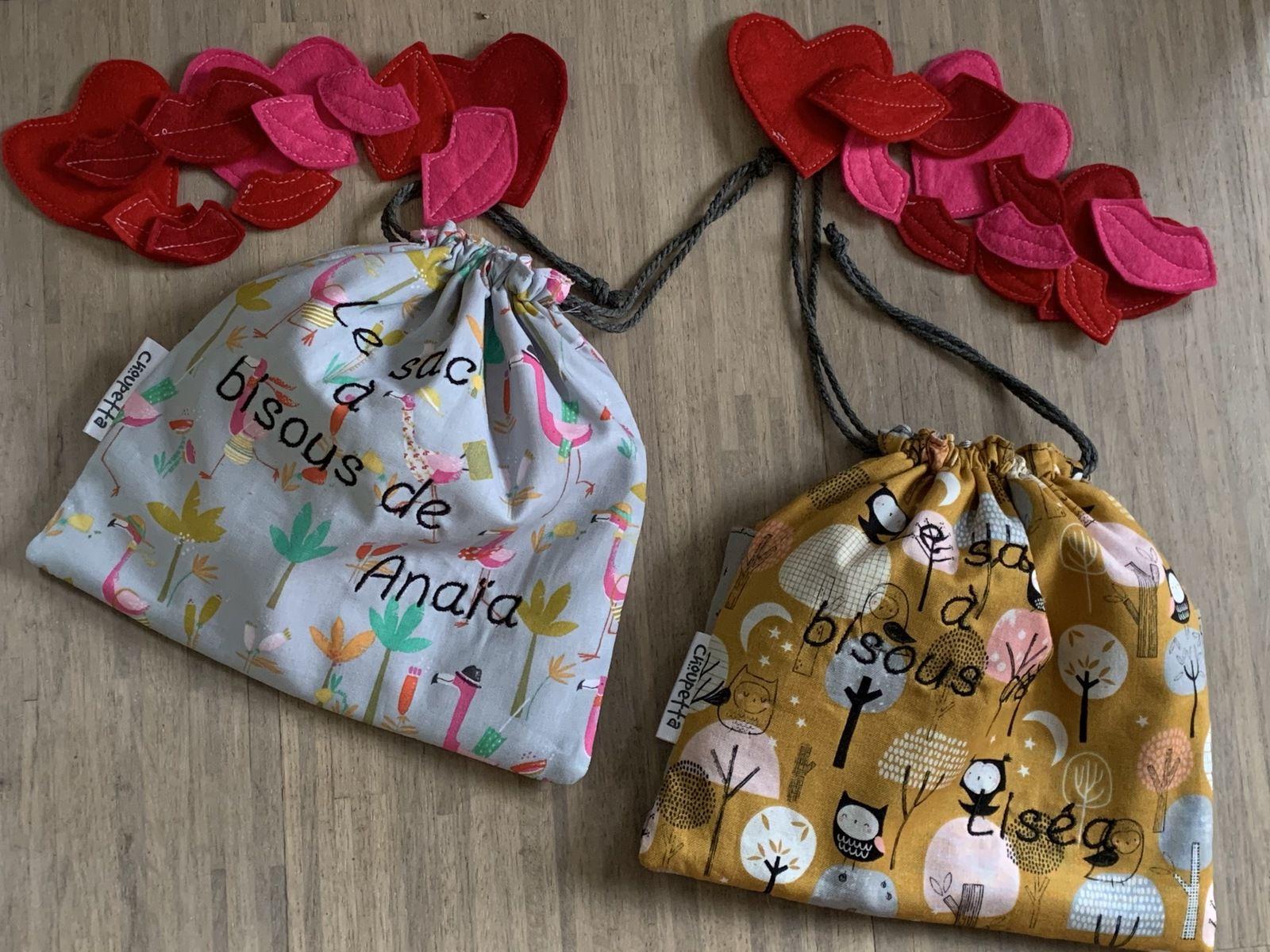 Les sacs à bisous de Liséa et d'Anaïa