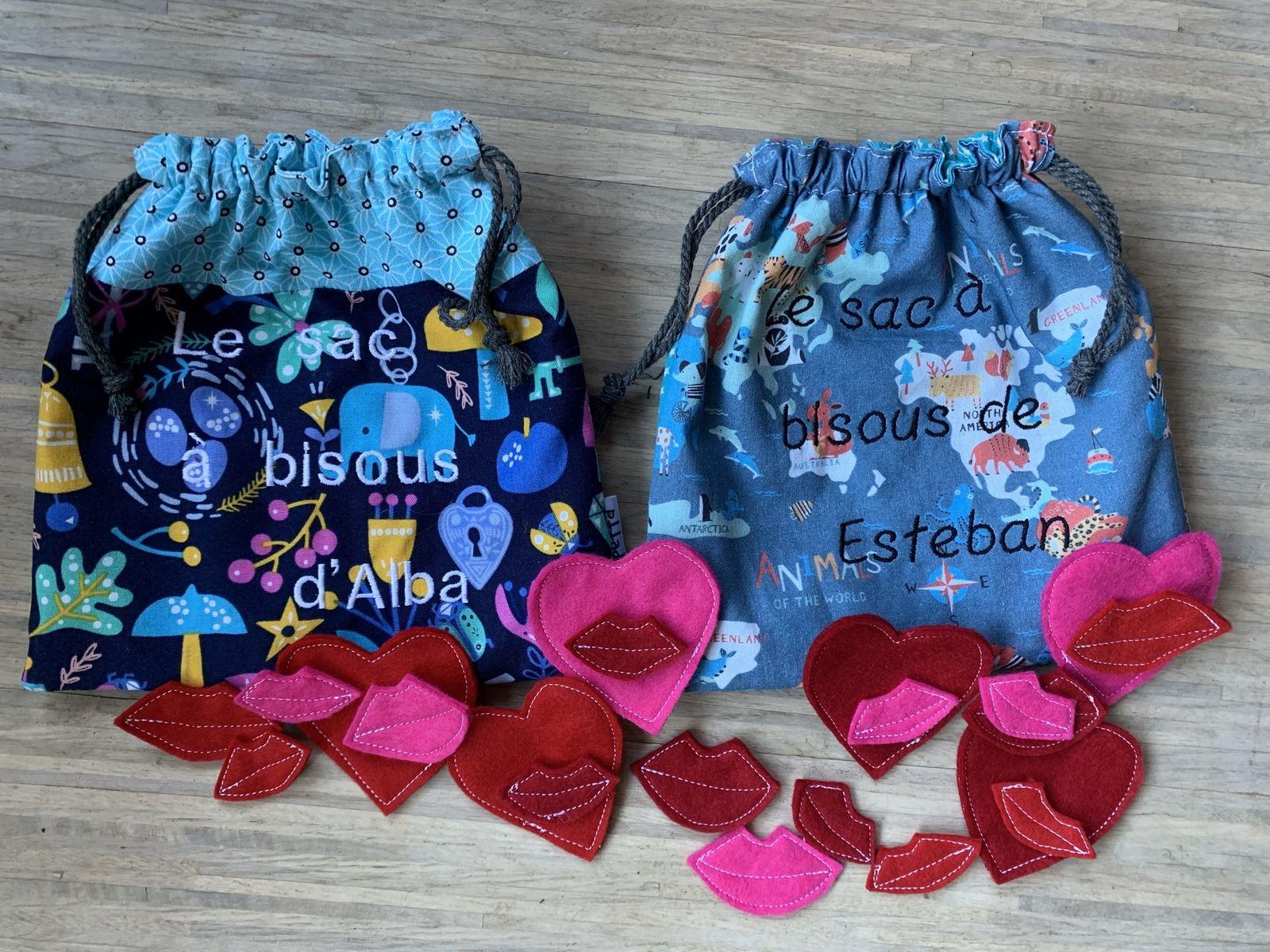 Les sacs à bisous d'Esteban et Alba
