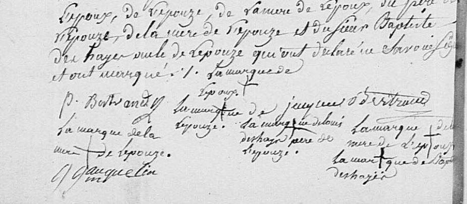 Acte de mariage et les signatures. AD61 - Messeï - Registre Paroissial - 3NUMECEC278/3E2_278_5