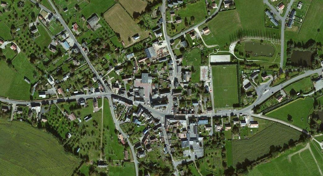 Vue satellite de Bellou-en-Houlme