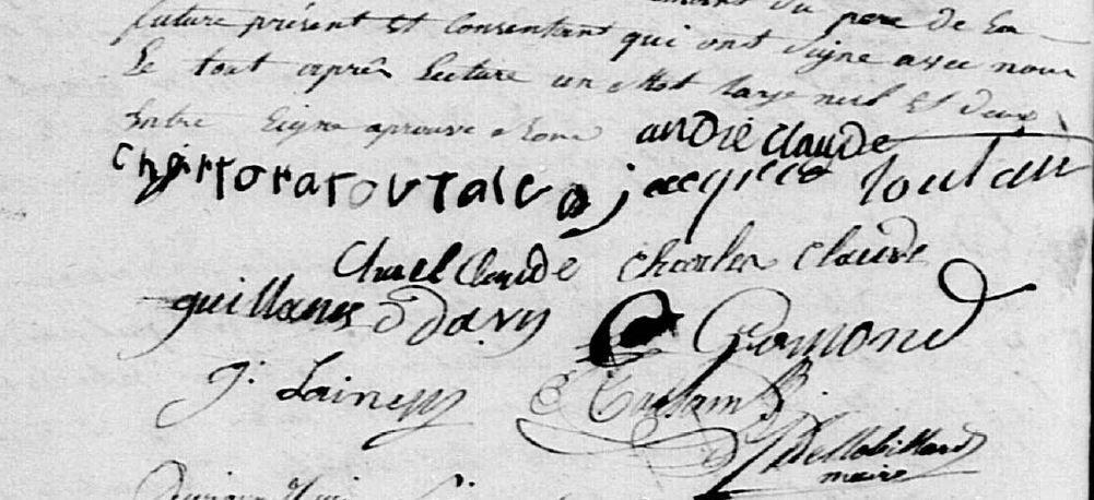 L'acte de mariage et ses signatures - Bellou en Houlme - AD 61 - Registre Etat Civil - 3NUMECEC40/3E2-040-15