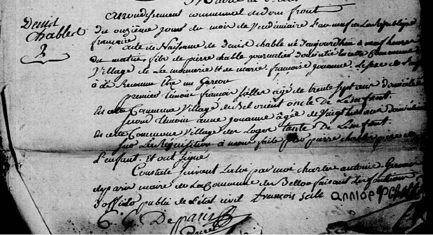 AD Orne – Bellou-en-Houlme – Registre BMS 3NUMECEC40/3E2_040_10_2 - Vue 253