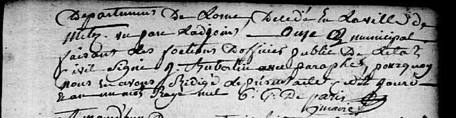 AD Orne - Bellou-en-Houlme - Registre d'état civil - BMS An XI-1807 -3NUMECEC40/3E2_040_11 vue 204
