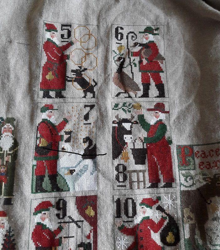 Mon plaid de Noël RE!!