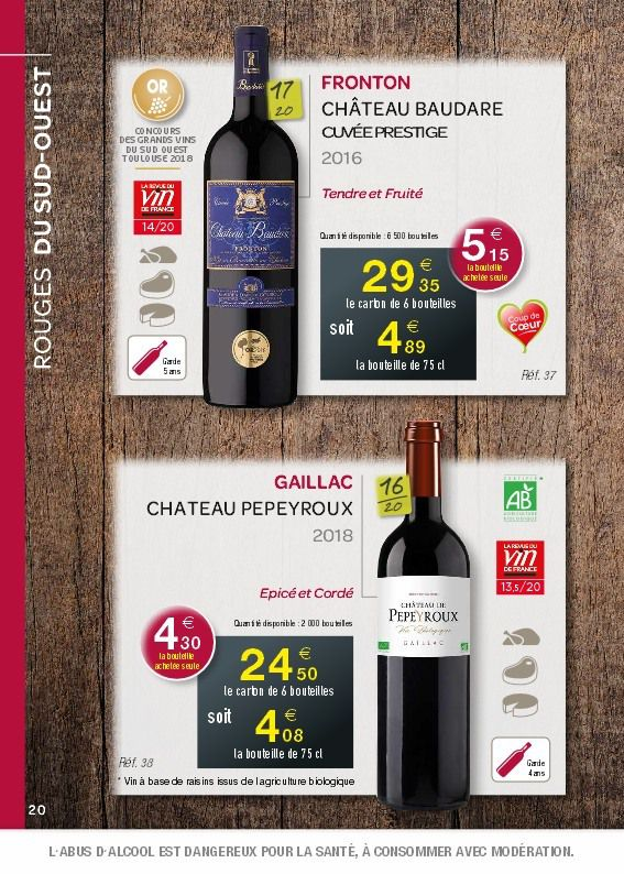 BONS CRUS 2019 : LE CATALOGUE