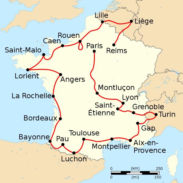 Quand le Tour passait à Béthune en 1956