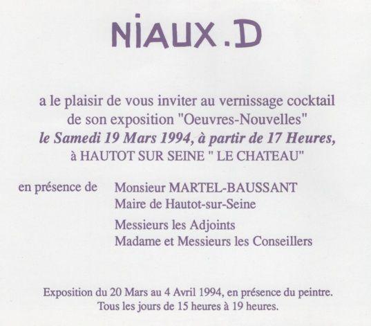 Exposition des peintures de Daniel Niaux à Hautot sur Seine