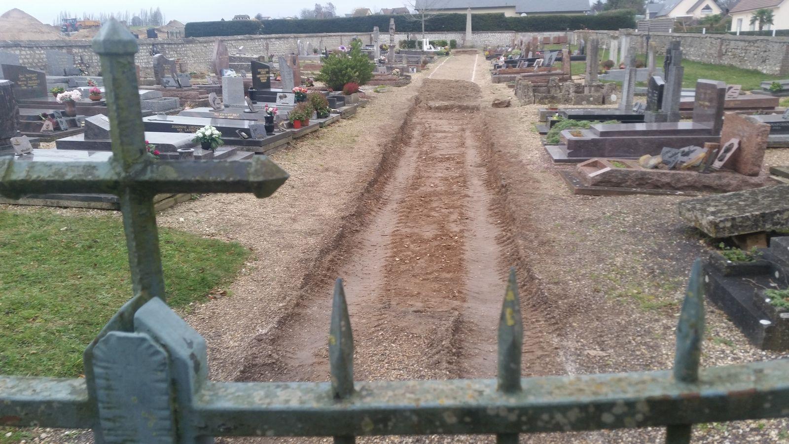 Mise en accessibilité du cimetière d'Hautot-sur-Seine