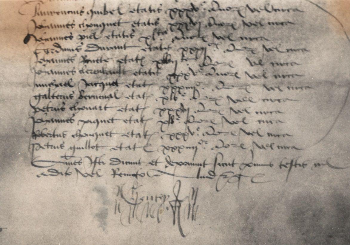 Les Hautotais en l'an de grâce 1471