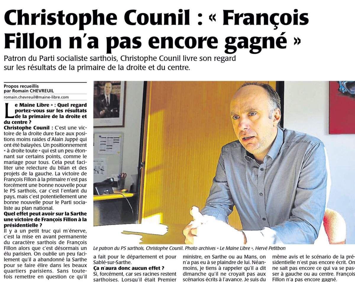 """""""François Fillon n'a pas encore gagné"""""""