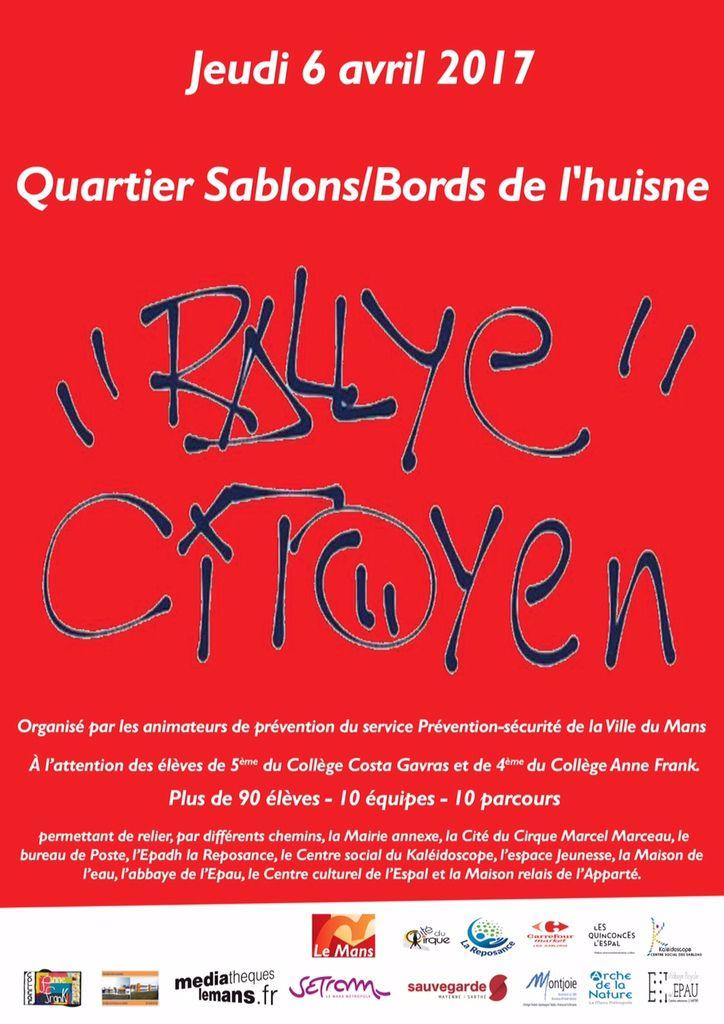 1er Rallye citoyen organisé par les agents de prévention de la Ville du Mans