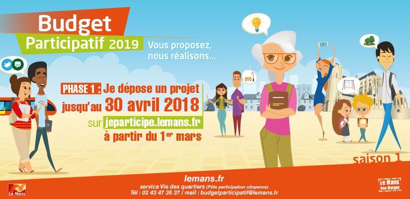1er mars 2018 : lancement officiel du Budget participatif du Mans #saison1