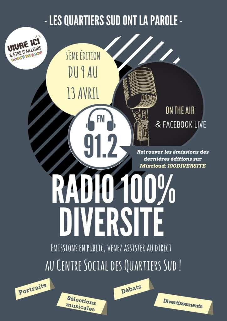 Radio 100% diversité dans les Quartiers Sud du 9 au 13 avril