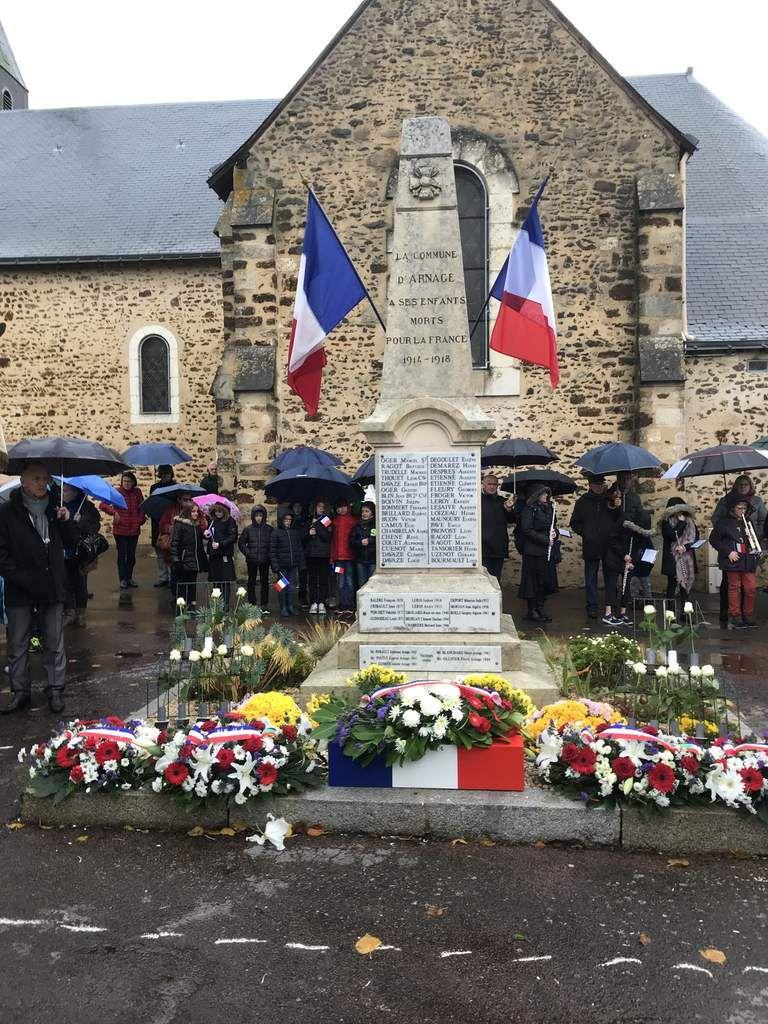 Célébration du centenaire de l'Armistice de 14-18 à Arnage (11 novembre)
