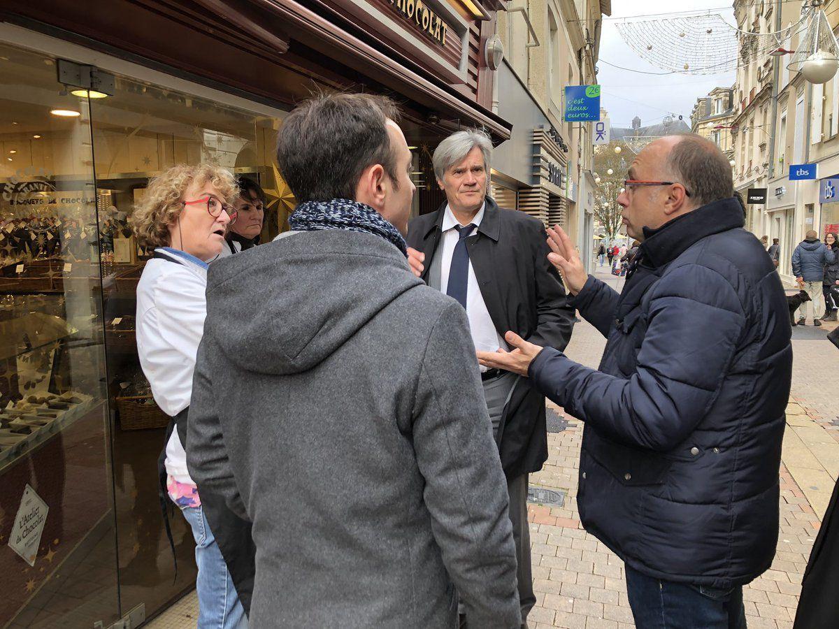 6 décembre : Présent sur le terrain aux côtés de Stéphane LE FOLL à la rencontre des commerçants du coeur de ville suite aux débordements de la manifestation lycéenne.