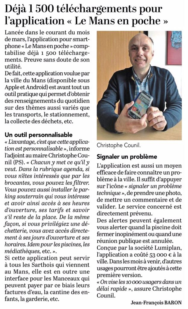 Le Maine Libre, 10 avril 2019