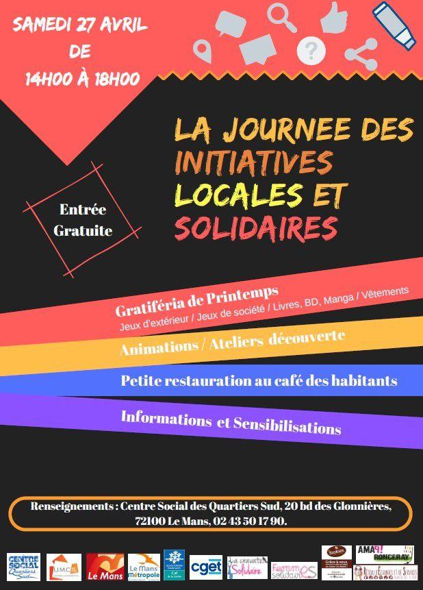 Journée des initiatives locales et solidaires et Gratiféria - Samedi 27 Avril 2019