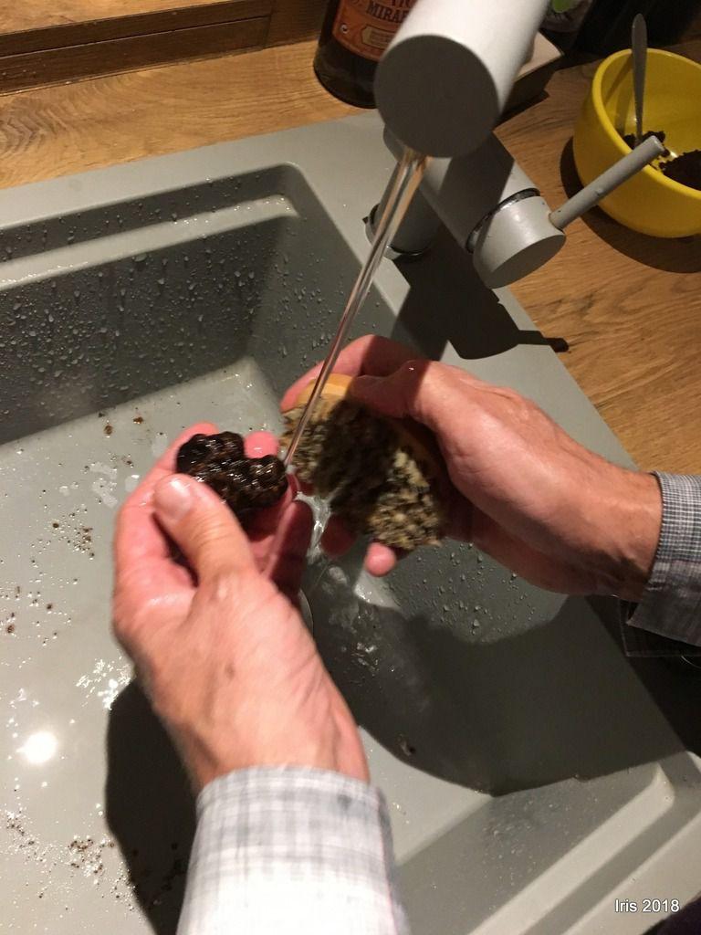 Laver, brosser, éliminer la terre