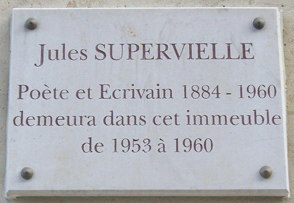 Jules Supervielle a vécu au 7 quai Louis-Blériot à Paris