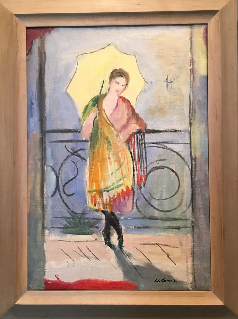 Lola à l'ombrelle jaune, Charles Camoin, 1920-1921