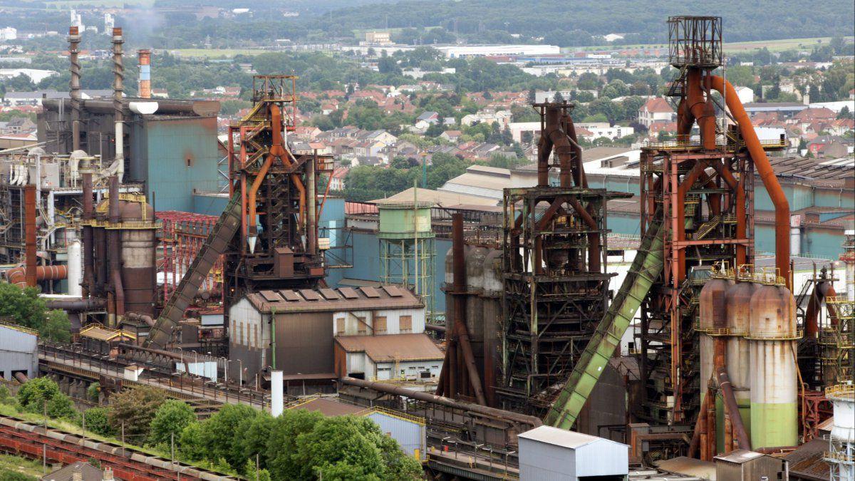 Installation sidérurgique ArcelorMittal à Florange ; photo MaxAPP L'ALSACE/Thierry Gachon
