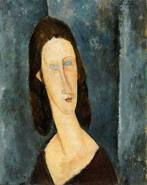 Les yeux bleus, Amadeo Modigliani (1918), Philadelphia Museum Art