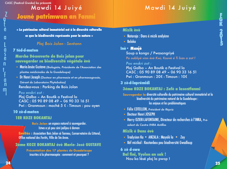 Festival de Gwo ka de Sainte-Anne 8 au 14 juillet 2015 (Guadeloupe)