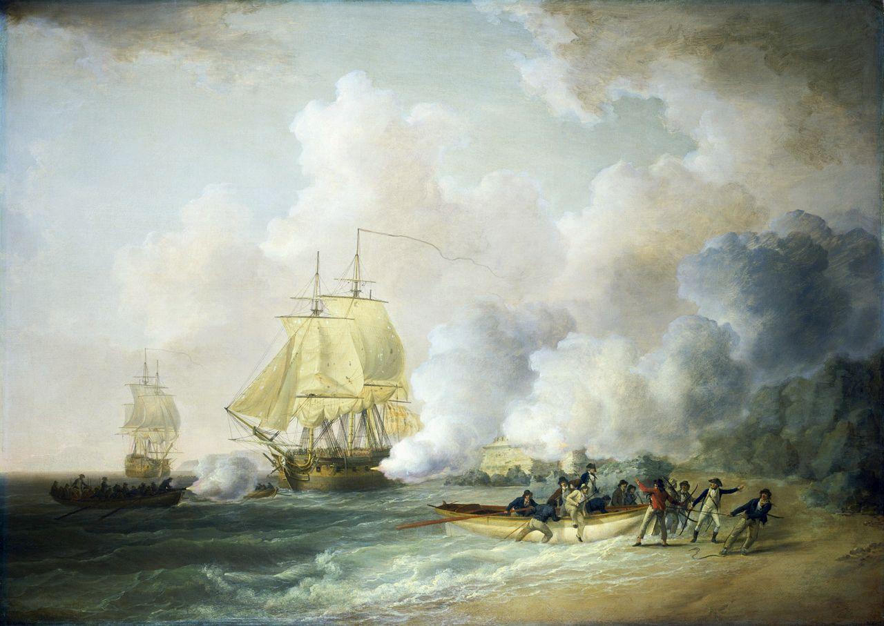 Capture of Fort Louis Martinique 20 March 1794 par William Anderson