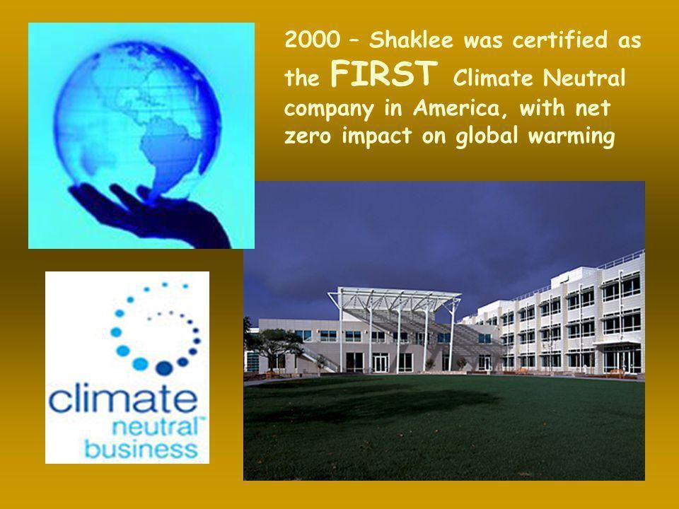 Shaklee aucun CO2