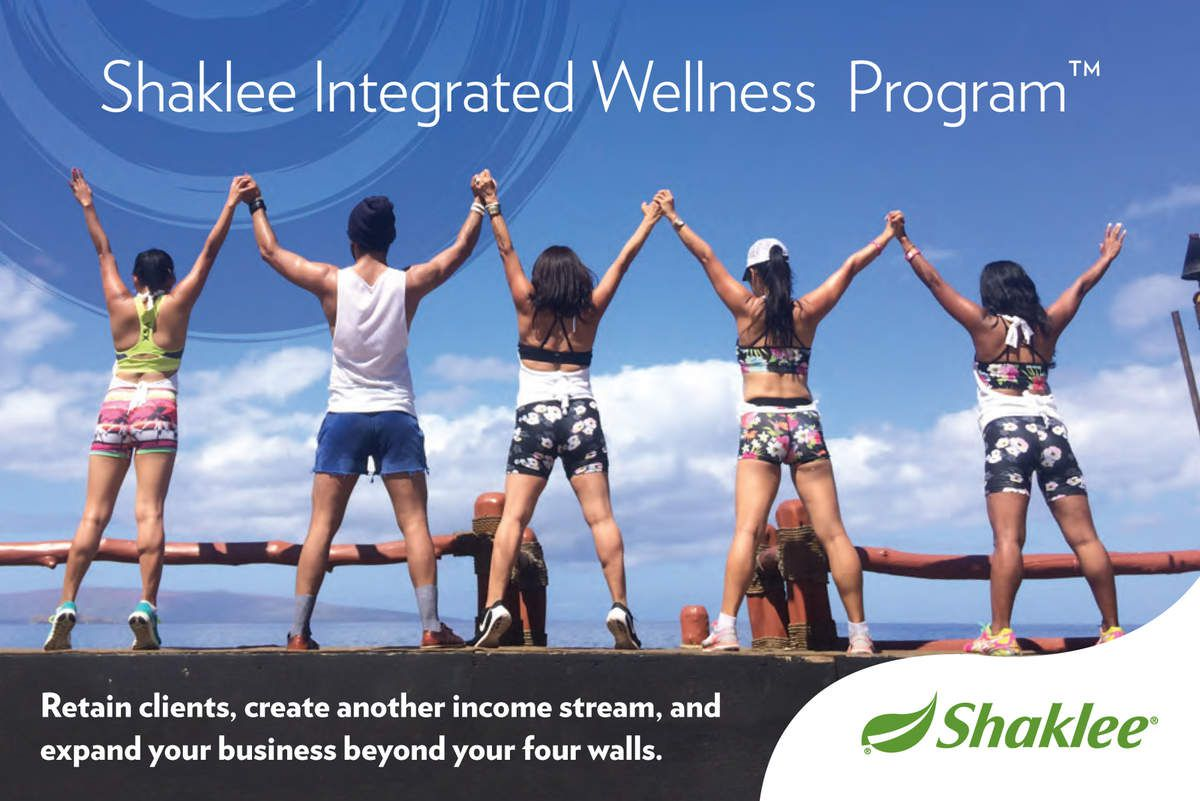 Incorpotared Shaklee Products to Your Wellness Studio ans Spa