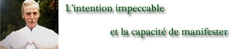 Intention Impeccable et la Manifester