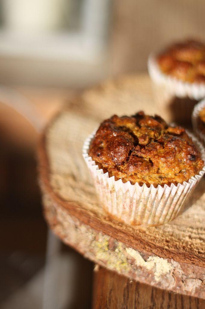 Muffins à la citrouille (sans sucre et sans matière grasse ajoutés)
