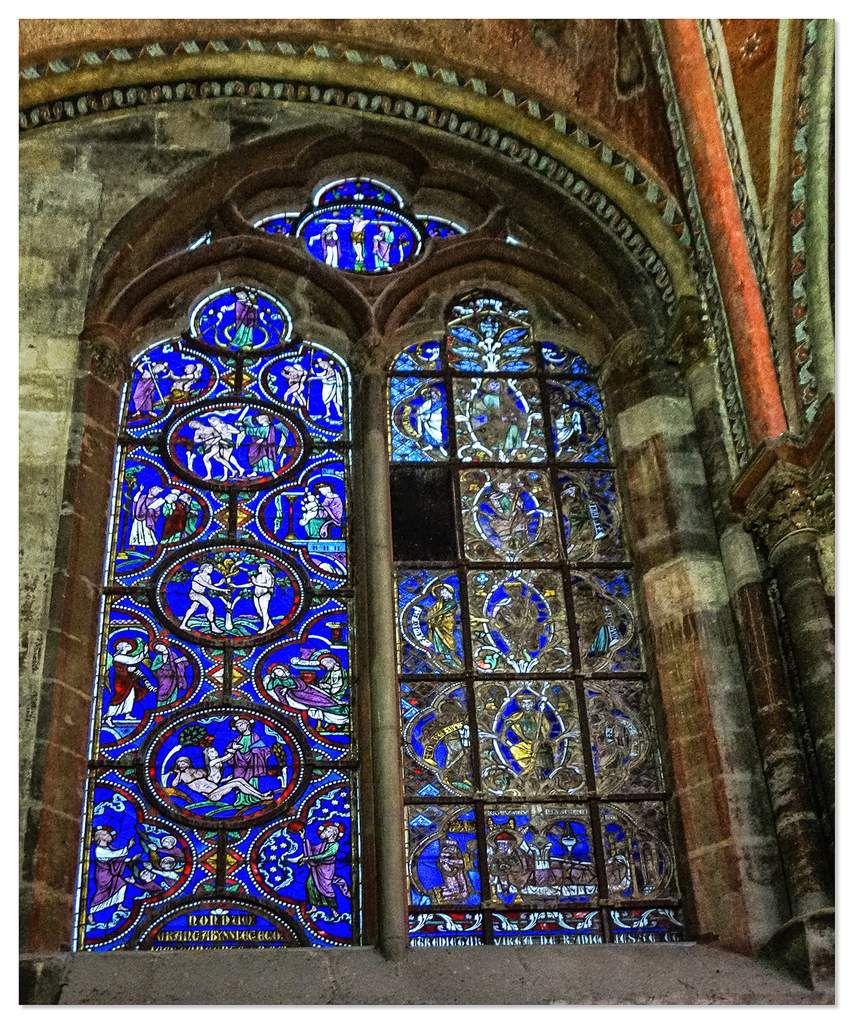 Vitraux de la chapelle de la Vierge - Cathédrale Saint-Julien du Mans