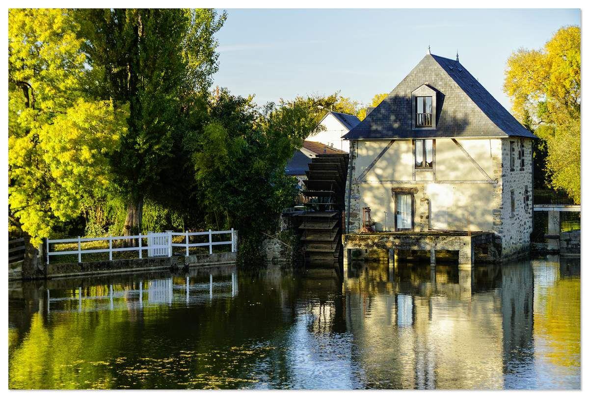 Moulin Renard sur la Sarthe, le Mans.