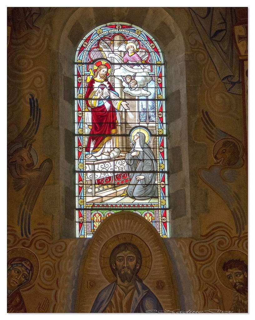 Vitraux de l'église Saint-Lazare du Mans.