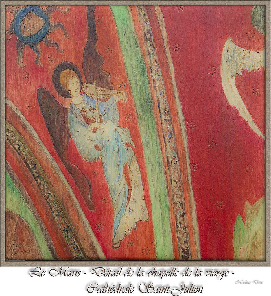 Pyrogravure, cathédrale Saint-Julien le Mans, détail de la chapelle de la vierge - Nadine Dvx