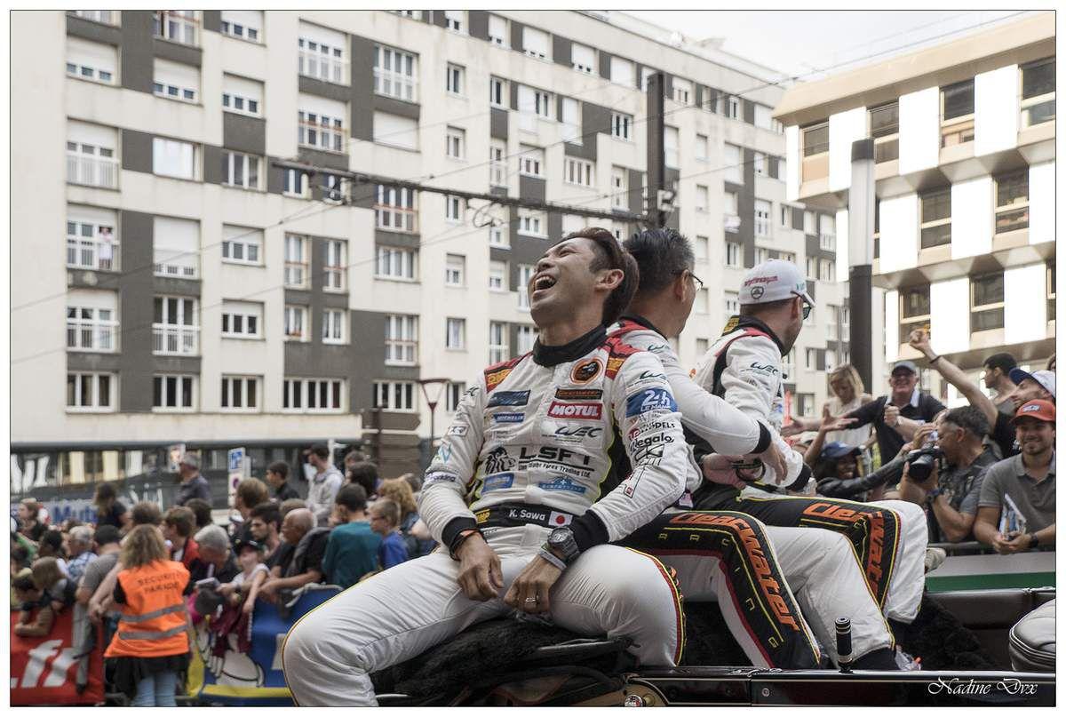 Parade des pilotes engagés au 24H du Mans 2018.
