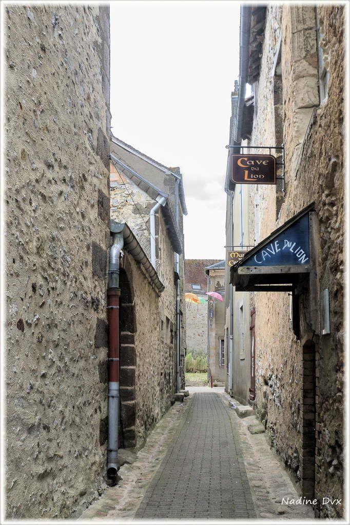 Fresnay-sur-Sarthe, rue principale.