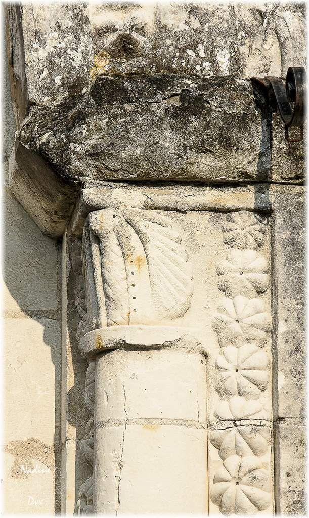 Modillons du XIIe siècle - Eglise Saint-Lubin - Coulongé - Sarthe.