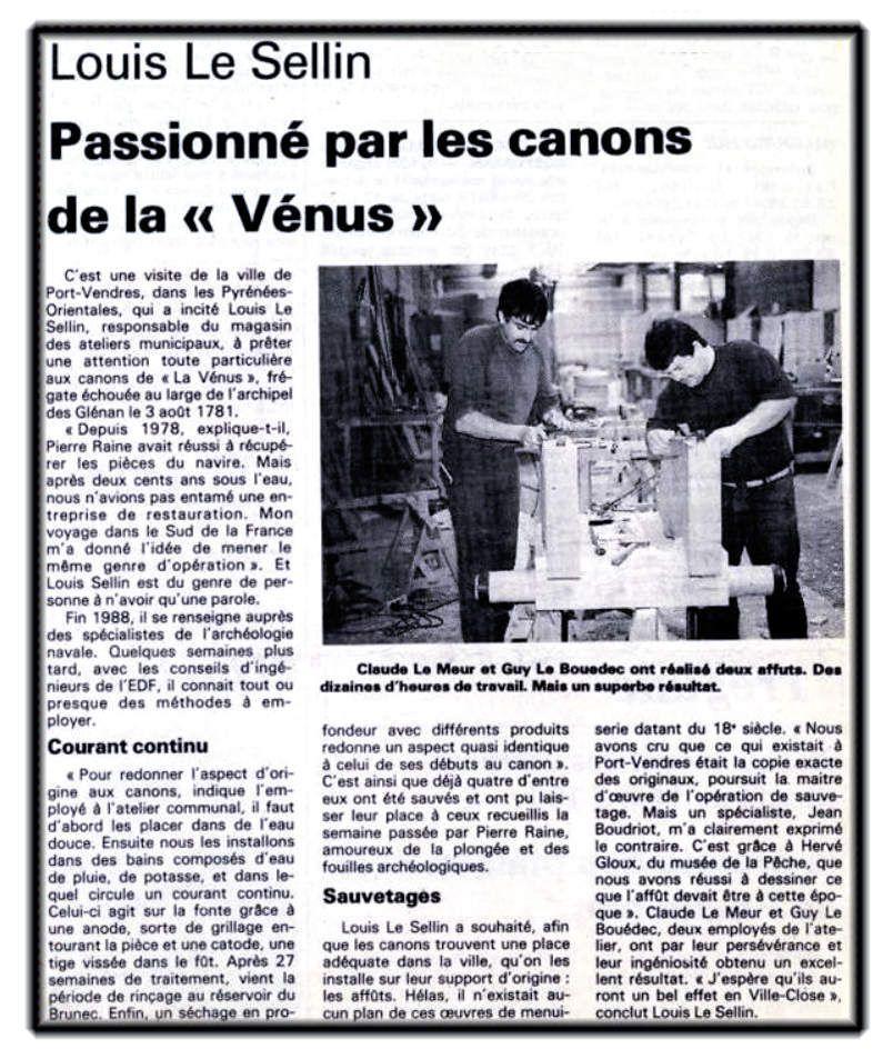 Canon de la Vénus - Ville close - Concarneau