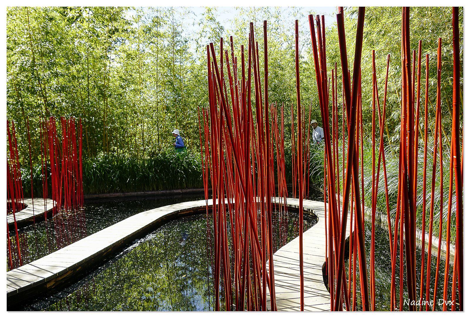 Carré et Rond jardin de Yu Kongjian - Domaine de Chaumont-sur-Loire.