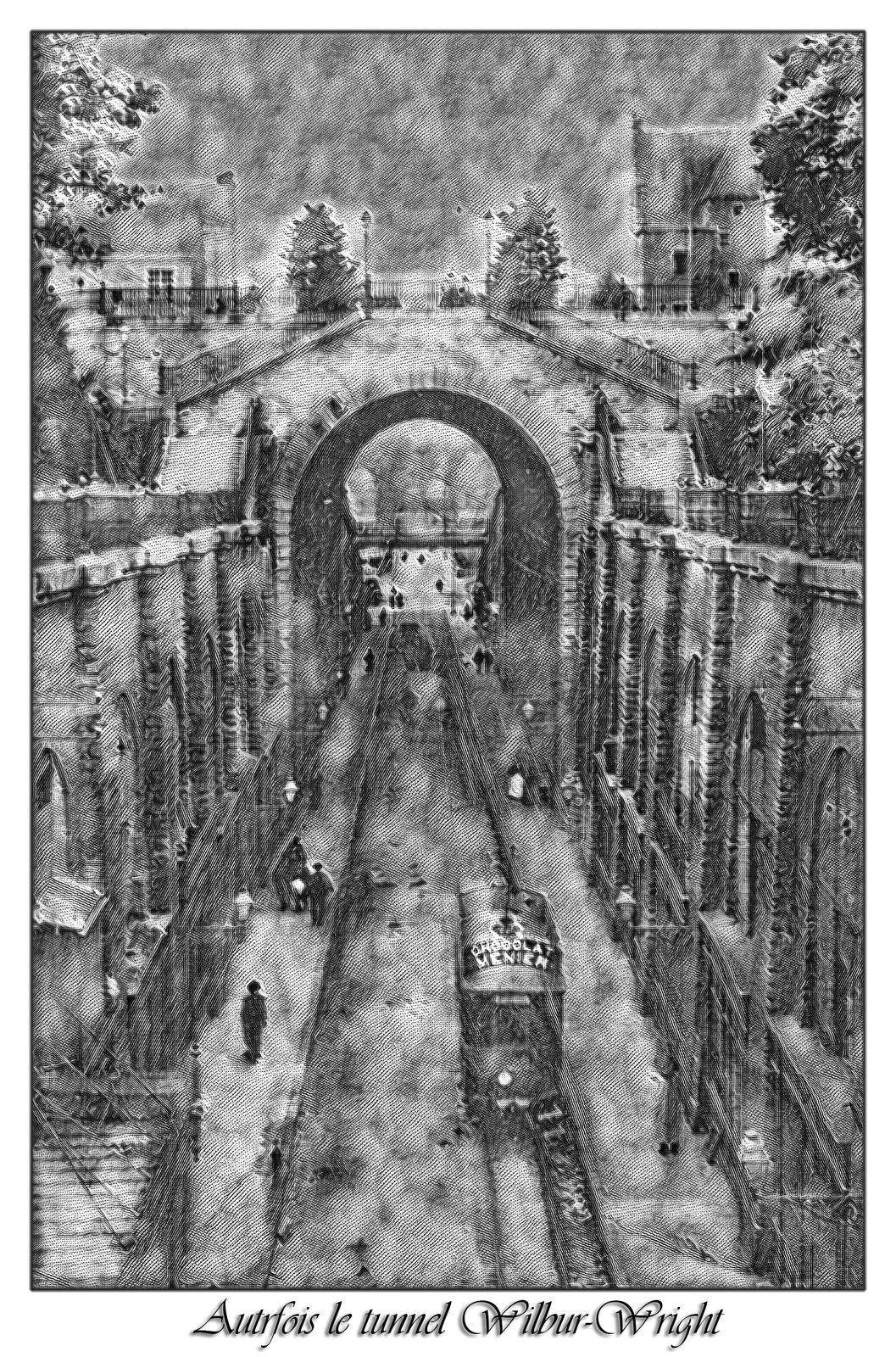 Rue des Chapelains au niveau du tunnel Wilbur-Wright - Cité Plantagenêt - Le Mans