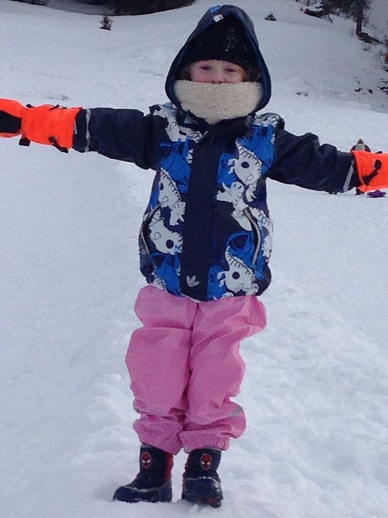 Voilà mon petit bonhomme de neige !
