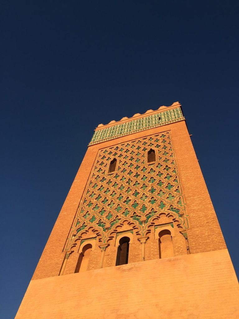Une mosquée sur fond de ciel tellement bleu !