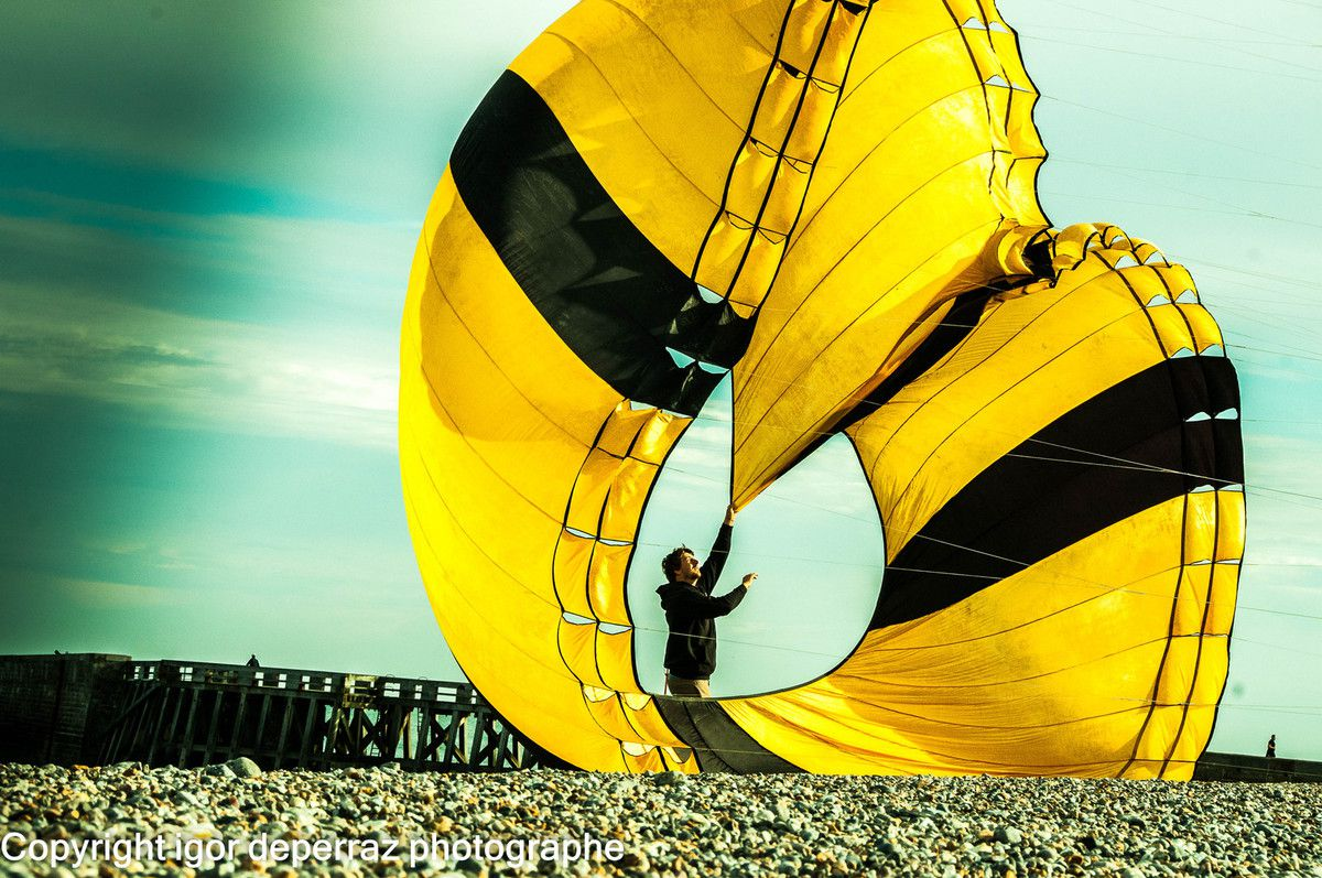 Festival de cerfs volants de Dieppe photographe igor deperraz