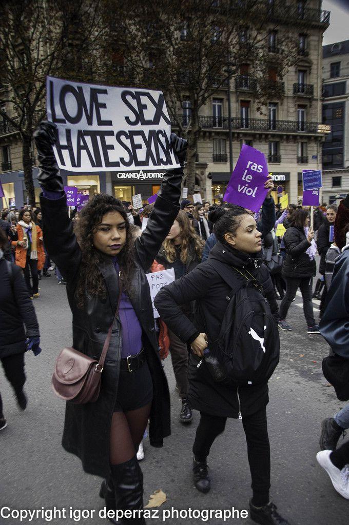 Manifestation contre les violences faites aux femmes   photographies igor deperraz