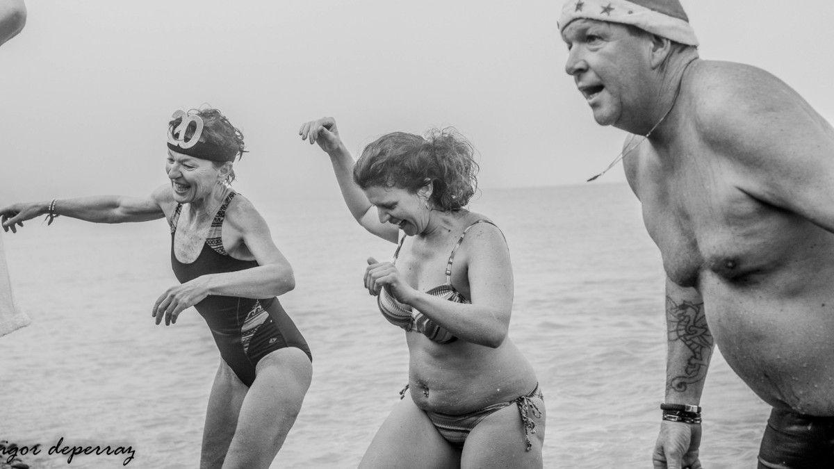 Bainb de mer à Dieppe le 1 janvier